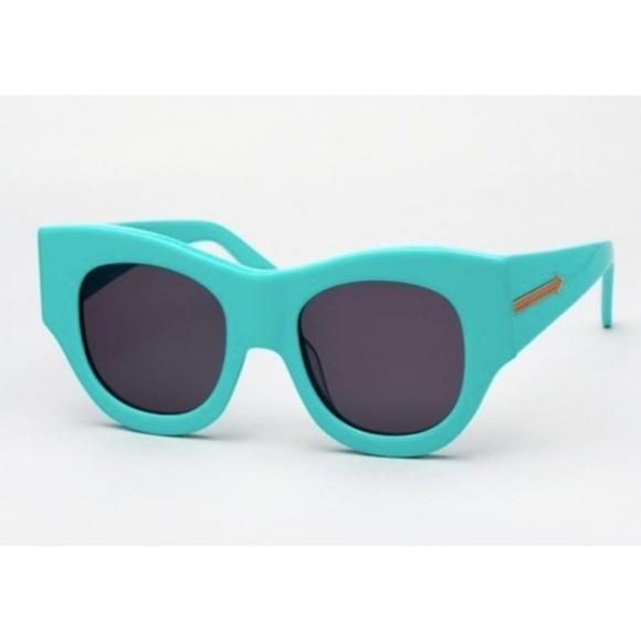 a997766d7385 Karen Walker Faithful Sunglasses in Turquoise NWT